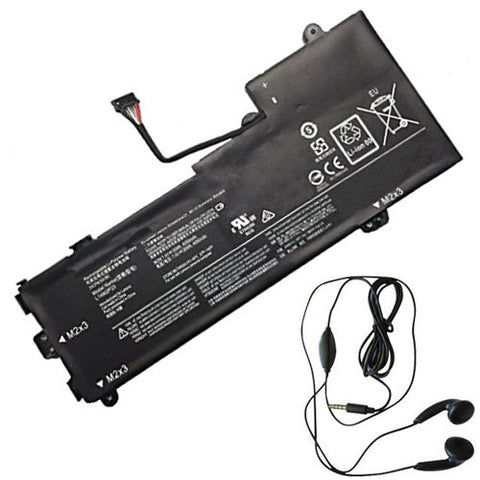 amsahr Extended Life Replacement Battery for LENOVO L14M2P23, Lenovo 5B10K87714, 5B10K87722, 5B10K87714, 5B10K87722, L15M2PB2, L15M2PB3  (7.4V, 30Wh) - Includes Stereo Earphone