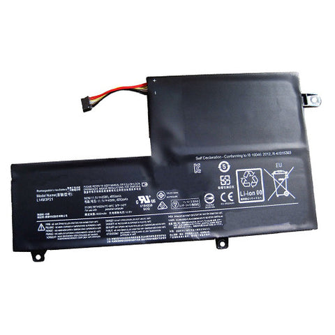 amsahr Superior Quality Replacement Battery for LENOVO L14M3P21, Flex 3 1470, Yoga 500-15, Flex3-14-IFI, Yoga 500 14ISK, Flex3-14-ALEI, Flex 3 14 -80R30009US  (11.1V, 45Wh)