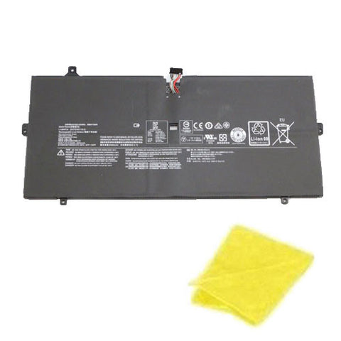 amsahr Replacement Battery for LENOVO L14M4P24, YOGA 4 PRO, YOGA 900 (66WH, 7.5v) - Includes Cleaning Cloth