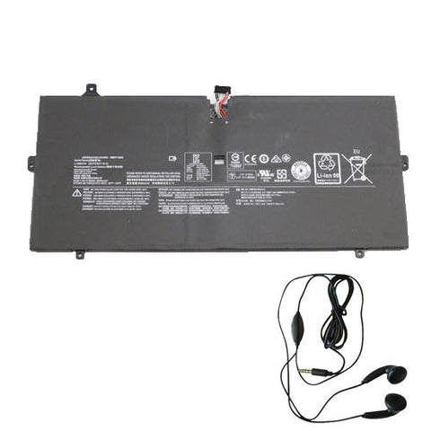 amsahr Extended Life Replacement Battery for LENOVO L14M4P24, YOGA 4 PRO, YOGA 900 (66WH, 7.5v) - Includes Stereo Earphone