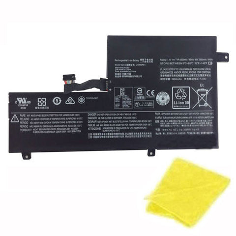 amsahr Replacement Battery for LENOVO L15M3PB1, 5B10K88047, 5B10K88049, L15L3PB1, N22 Chromebook (11.1V, 45WH) - Includes Cleaning Cloth.