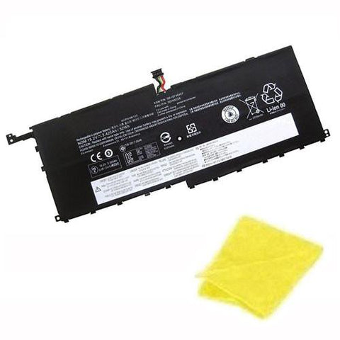 amsahr Replacement Battery for Lenovo SB10F46467, 00HW029, 01AV409 (15.2V, 52Wh) - Includes Cleaning Cloth