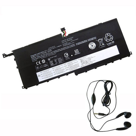 amsahr Extended Life Replacement Battery for Lenovo SB10F46467, 00HW029, 01AV409 (15.2V, 52Wh) - Includes Stereo Earphone
