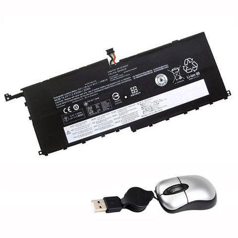 amsahr Replacement Battery for Lenovo SB10F46467, 00HW029, 01AV409 (15.2V, 52Wh) - Includes Mini Optical Mouse