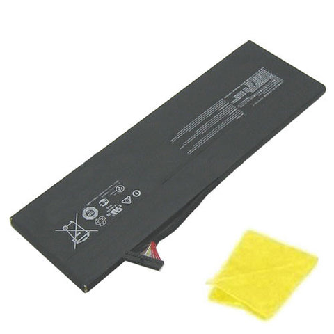amsahr Replacement Battery for MSI BTY-M47, GS40 6QE-006XCN, GS40, GS40 6QE-055XCN, BTY-M47  (7.6V, 8060mAh) - Includes Cleaning Cloth