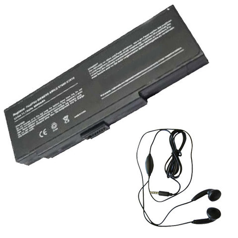 Amsahr Extended Life Replacement Battery for NEC E680, BT.T3004.001, BT.T3007.003,BP-LYN, BP-CAL, BP-8089, BP-8089, BP-8089X, BP-8089X(P), BP-8389, BP8089X(P) (6600 mAh) - Includes Stereo Earphone
