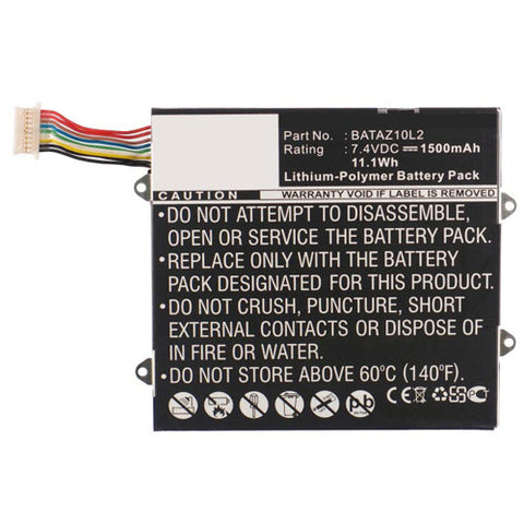 amsahr Superior Quality Replacement Battery for PANASONIC BATAZ10L2, ELOCITY A7, BATAZ10L2  (7.4V, 1500mAh)