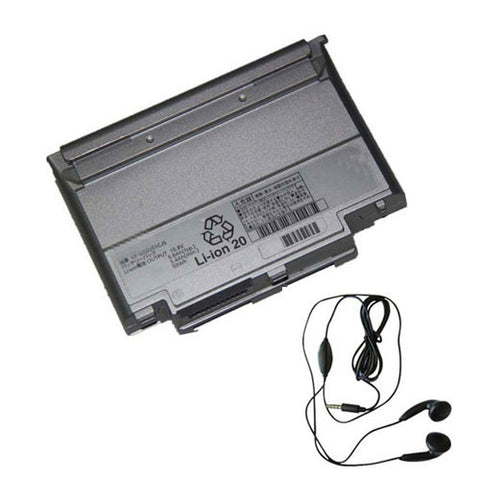 amsahr Extended Life Replacement Battery for Panasonic CF-VZSU51W, CF-VZSU51JS, CF-VZSU51R, CF-VZSU57JS (5800mAh, 10.8V, 6 Cell)- Includes Stereo Earphone.