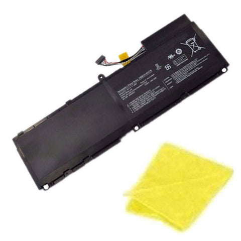 amsahr Replacement Battery for SAMSUNG AA-PLAN6AR, BA43-00292A, 900X1AA01US, 900X3A-B02US, 900X3AA02, B04CH, 900X1B-A02, 900X3A-A02US, 900X3AB01 (7.4V, 46WH) - Includes Cleaning Cloth