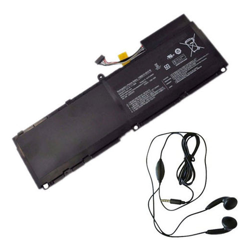 amsahr Extended Life Replacement Battery for SAMSUNG AA-PLAN6AR, BA43-00292A, 900X1AA01US, 900X3A-B02US, 900X3AA02, B04CH, 900X1B-A02, 900X3A-A02US, 900X3AB01 (7.4V, 46WH) - Includes Stereo Earphone