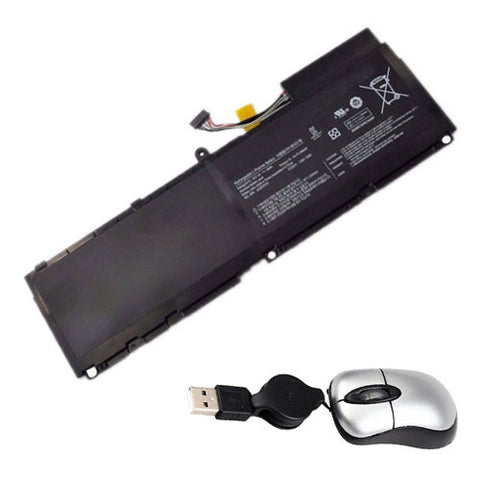 amsahr Replacement Battery for SAMSUNG AA-PLAN6AR, BA43-00292A, 900X1AA01US, 900X3A-B02US, 900X3AA02, B04CH, 900X1B-A02, 900X3A-A02US, 900X3AB01 (7.4V, 46WH) - Includes Mini Optical Mouse