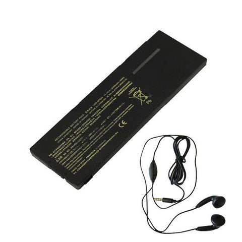amsahr Extended Life Replacement Battery for Sony VGP-BPSC24, VAIO SA Series, VAIO SB Series, VAIO SC Series, VAIO SD Series, SA4W9E, SA25EC, (4400mAh, 11.1V, 6-cell) - Includes Stereo Earphone