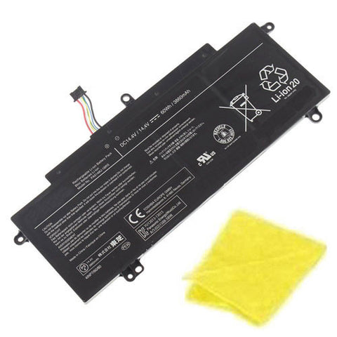 amsahr Replacement Battery for TOSHIBA PA5149U-1BRS, 4INP7/60/80, (02)1588-5898 (14.4V, 60Wh) - Includes Cleaning Cloth