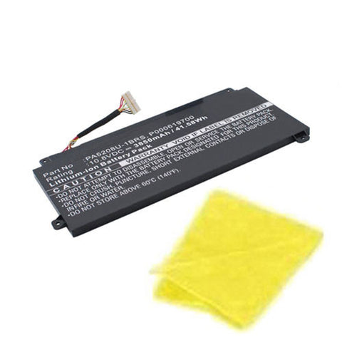 amsahr Replacement Battery for Toshiba PA5208U-1BRS, Chromebook 2 CB30-B3121, Chromebook 2 CB35-B3330, Satellite P55w, Chromebook 2 CB30 (3850MAH, 10.8V) - Includes Cleaning Cloth