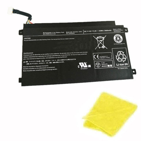 amsahr Replacement Battery for TOSHIBA PA5255, PA5255U-1BRS (11.4V,43WH, 3660 mAh) - Includes Cleaning Cloth