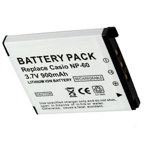Amsahr Extended Performance Replacement Digital Camera and Camcorder Battery for Casio NP-60, Exilim EX-S10, EX-S10BE, EX-S10BK, EX-S10SR, Zoom EX-Z20