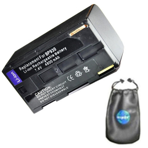 Amsahr Digital Replacement Camera and Camcorder Battery for Canon BP-911, BP-911k, BP-914, BP-915, BP-924, BP-927, BP-930, BP-930E, ES-65 Hi8, ES-6500 -Includes Lens Accessories Pouch