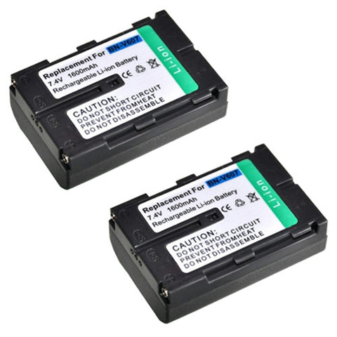 Amsahr ValuePack (2 Count): Extended Performance Replacement Digital Camera and Camcorder Battery for JVC BN-V607, BN-V607U, GR: DV3, DV3U, DV5, DV5U, DV808, DVM828, GV-HT1U