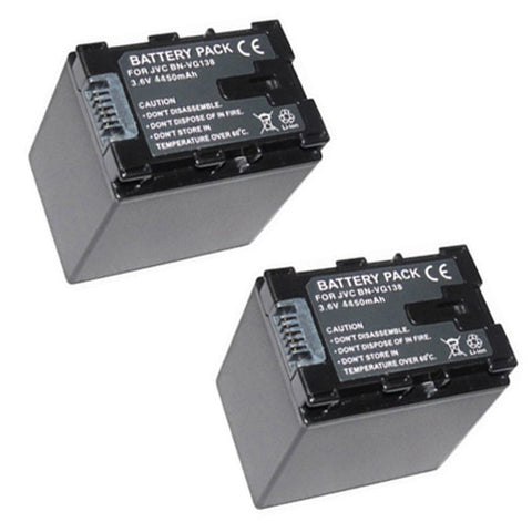 ValuePack(2 Count):Extended Performance Replacement Digital Camera and Camcorder Battery for JVC BN: VG138, VG107, VG108, VG114, VG121, MS110, MS118, MS150, MS150, MS210, E10, E100, E200, EX355, EX515