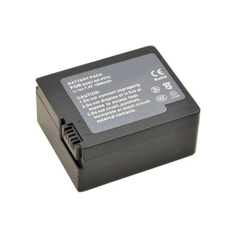 Amsahr Extended Performance Replacement Digital Camera and Camcorder Battery for Sony NP-FF70, NP-FF50, NP-FF51, NP-FF51S, NP-FF71, NP-FF71S, DCR: IP45E