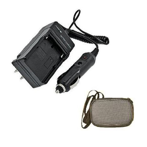 Amsahr Extended Life Replacement Camera and Camcorder Mini Battery Travel Charger for Konica Minolta NP-200, NP200, DiMAGE X, DiMAGE Xg with Intelligent-Charge Technology-Includes Hard Case Camera Bag