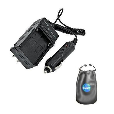 Amsahr Digital Replacement Camera and Camcorder Mini Battery Travel Charger for Pentax D-LI90, D-BC90, 645D, K-01, K-3, K-5, K-5 II with Intelligent-Charge Technology - Includes Lens Accessories Pouch