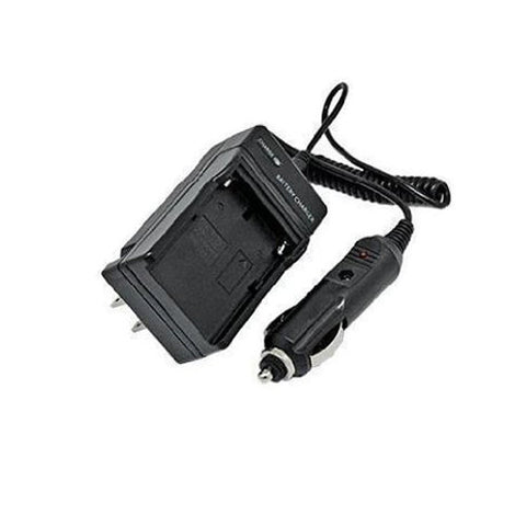 Amsahr Extended Performance Replacement Camera and Camcorder Mini Battery Travel Charger for Sanyo DB-L20, DB-L20A, DB-L20AU, Xacti: E1, E60 with Intelligent-Charge Technology - Includes Car Adapter