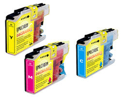 Amsahr Brother LC103Y, MFC-J285, J475 Compatible Replacement Ink Cartridges - Includes Set of 3: 3 Color Ink Cartridges