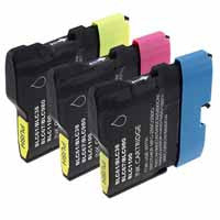 Amsahr Brother DCP-165C, MFC290C Compatible Replacement Ink Cartridges - Includes Set of 3: 3 Color Ink Cartridges