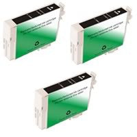 Amsahr Epson T088120, CX4400 Remanufactured Replacement Ink Cartridges - Includes THREE BLACK Cartridges