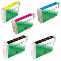 Amsahr Epson T088120, CX4400 Remanufactured Replacement Ink Cartridges - Includes Set of 5: 2 Black and 3 Color Ink Cartridges
