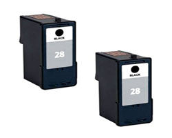 Amsahr Lexmark 18C1528, X2500 Remanufactured Replacement Ink Cartridges - Includes TWO BLACK Cartridges