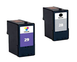 Amsahr Lexmark 18C1528, 18C1529 Remanufactured Replacement Ink Cartridges - Includes Set of 2: 1 Black and 1 Color Ink Cartridges