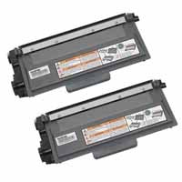 Amsahr Brother DCP-8110DN, 8150DN Compatible Replacement Toner Cartridge - Includes TWO BLACK Cartridges