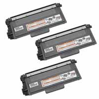 Amsahr Brother DCP-8110DN, 8150DN Compatible Replacement Toner Cartridge - Includes THREE BLACK Cartridges