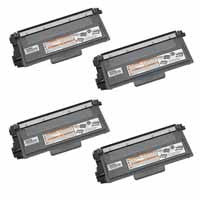 Amsahr Brother DCP-8110DN, 8150DN Compatible Replacement Toner Cartridge - Includes FOUR BLACK Cartridges