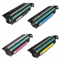 Amsahr HP M551, M575 Remanufactured Replacement Toner Cartridge - Includes 1 Set of BLACK, MAGENTA, YELLOW and CYAN Cartridges