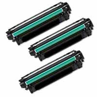 Amsahr HP 600, M4555, CE390X Remanufactured Replacement Toner Cartridge - Includes THREE BLACK Cartridges