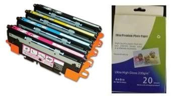 Amsahr HP Q2670A, Q2671A, 3500 Remanufactured Replacement Toner Cartridge - Includes 1 Set of BLACK, MAGENTA, YELLOW and CYAN Cartridges.