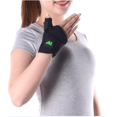 Amsahr Medical Thumb Brace and Thumb Support and Thumb Splint Stabilizer - Small - 16-19cm (Wrist circumference)