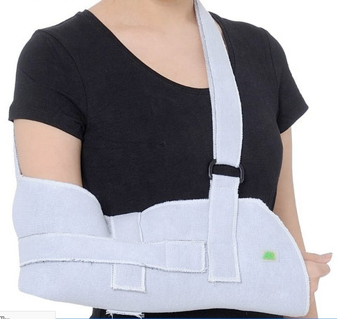 Amsahr Medical Forearm Straps Arm Brace Arm Support Breathable Mesh Shoulder Immobilizer with Splint Strap Summer - Universal (27-40cm) Forearm Length