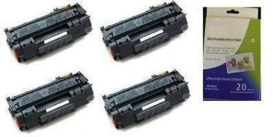 Amsahr HP CB380A, B381A, CP6015 Remanufactured Replacement Toner Cartridge - Includes 1 Set of BLACK, MAGENTA, YELLOW and CYAN Cartridges.