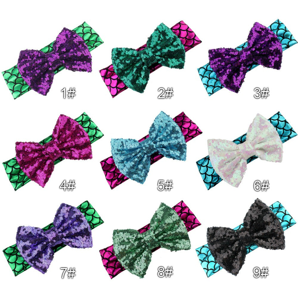 Mermaid Sparkle Headband Bow!