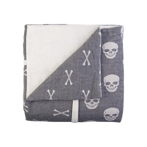 Skulls and Bones Fleece Throw