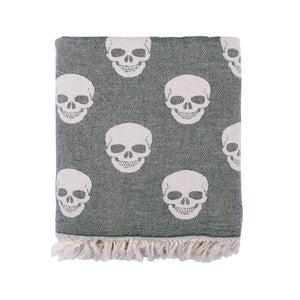 PeshMetal Skulls Throw