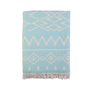 Kilim Throw - Denim