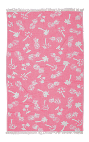 Road Trip Palm Beach Towel - Pink