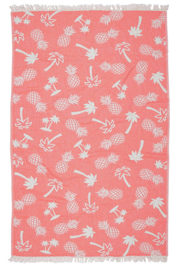 Road Trip Palm Beach Towel - Orange