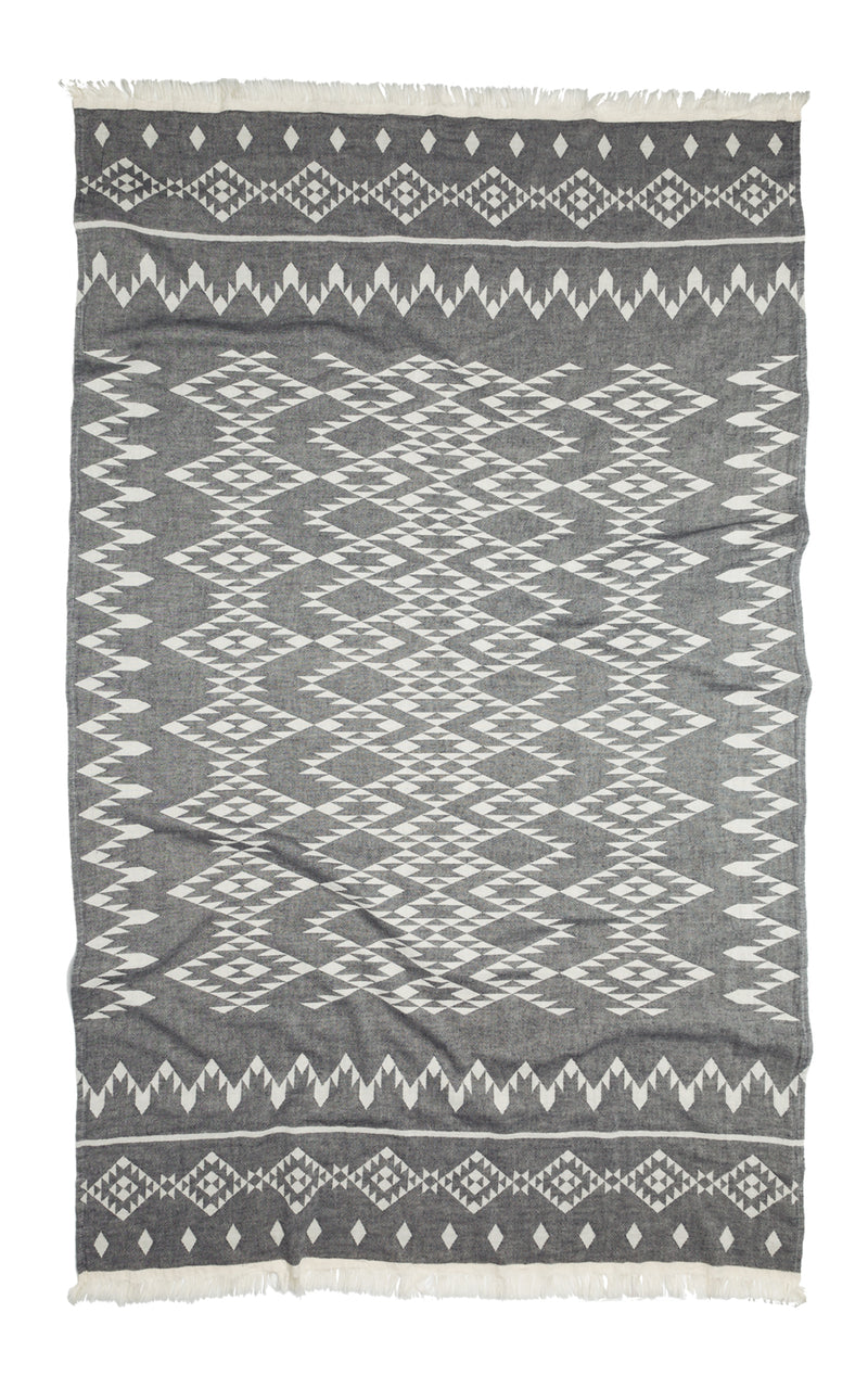 Kilim Throw - Grey