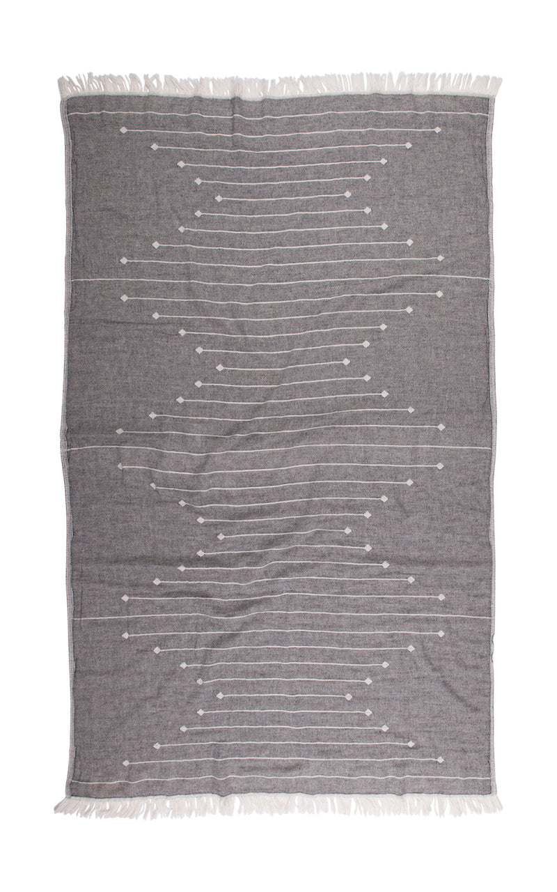 Connecting Dots Towel - Black & White